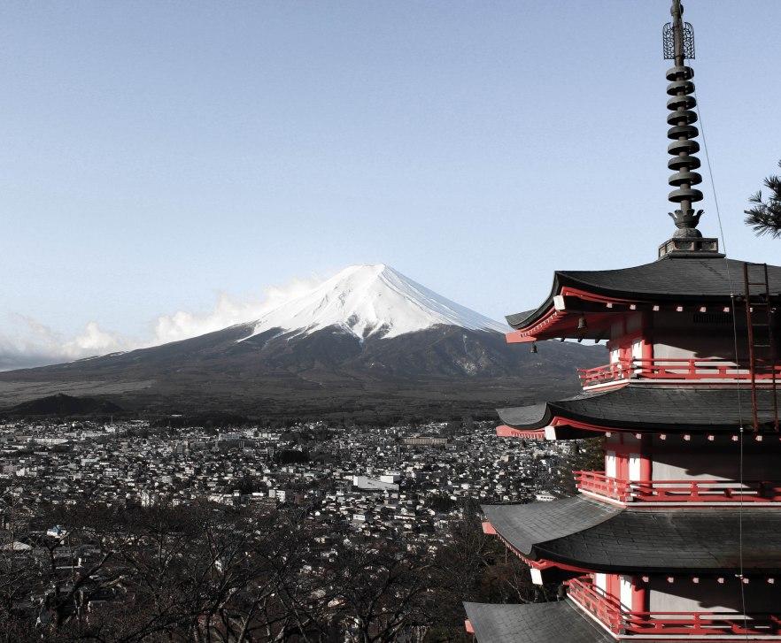 Fujisan and Chureito Pagoda, April 2014